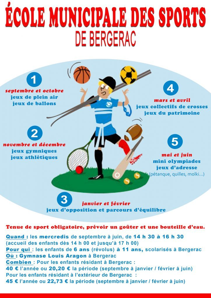 L ecole municipale des sports for Piscine municipale bergerac